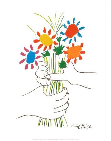 picasso pablo fleurs et mains petite fleurs r sistance