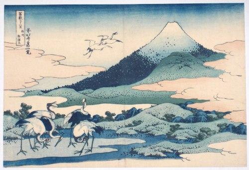 amont fuji Hokusai