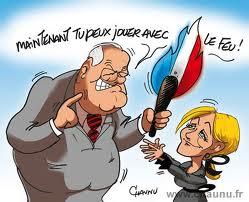 marine Le Pen et son pére