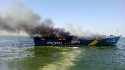 aukraine-patrouille-ukrainienne-en-feu-le-31-aout-2014-dans-la-mer-azov-pres-de-marioupol