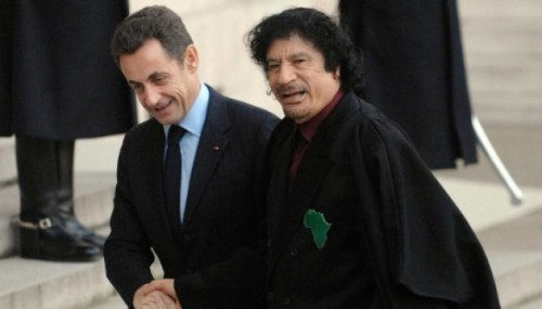 khadafi sarko le PLUS