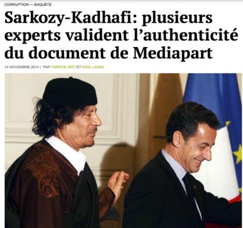 khadafi sarko