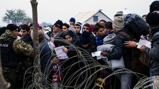 aréfugiés migrantsent-les-papiers-de-migrants-et-refugies-qui-attendent-pour-traverser-la-frontiere-avec-la-grece-pres-de-gevgelija-le-20-novembre-2015-en-macedoine_5467176