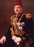 Portrait officiel du roi Farouk en 1946, ayant servi à réaliser les pièces de monnaie et les documents philatéliques.
