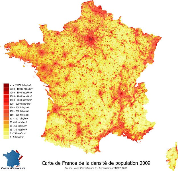 France densité ori