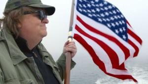 "Michael Moore dans son film ""Where To Invade Next"", septembre 2016."