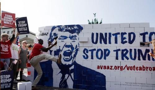 تظاهرات ضد ترامپ در برلین