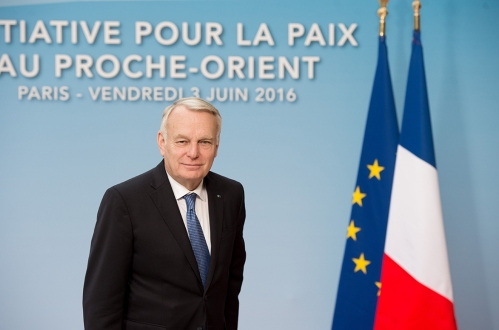 French Foreign minister Jean-Marc Ayrault arrives to host an international and interministerial meeting in a bid to revive the Israeli-Palestinian peace process. Paris, FRANCe - 03/06/2016.//CHAMUSSY_lcham006/Credit:CHAMUSSY/SIPA/1606031223