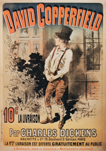 Vintage literary poster for David Copperfield book