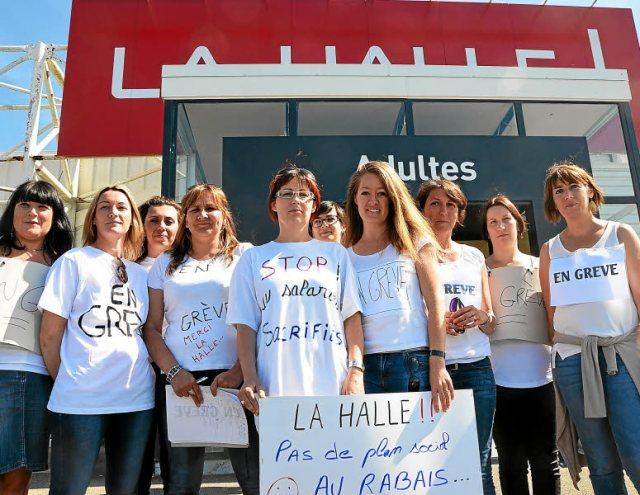 Grève à La Halle