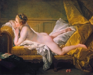 Resting Girl (Louise O'Murphy) *oil on canvas *59.5 x 73.5 cm *signed b.r.: F. Boucher / 1751