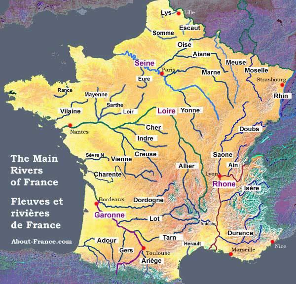 carte des fleuves et rivières de france Cours d'eau et pesticides : les poissons boivent la tasse !